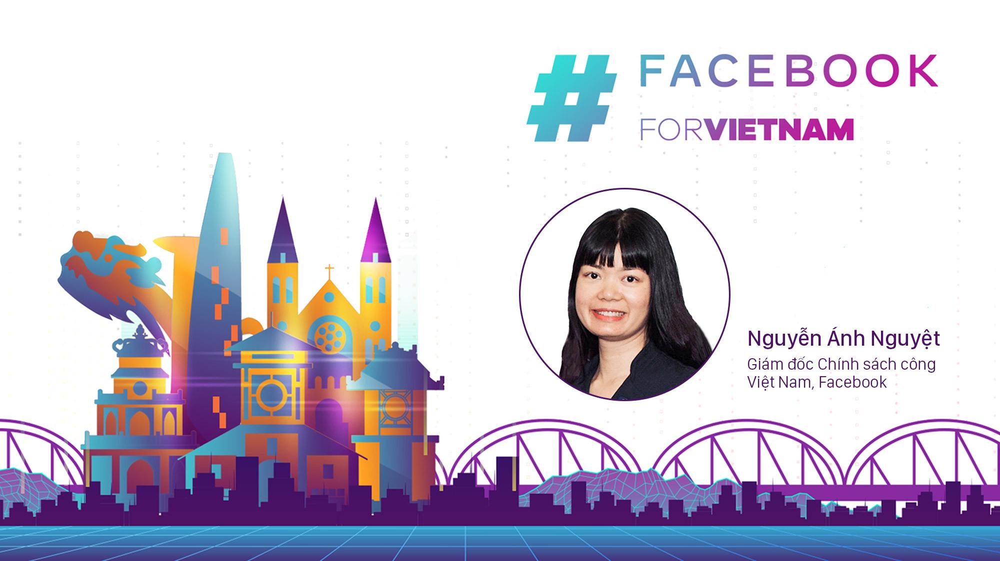 Trò chuyện cùng bà Nguyễn Ánh Nguyệt, Giám đốc Chính sách công Việt Nam, Facebook