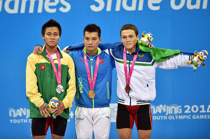 Mens weightlifting 56kg Medalists235871