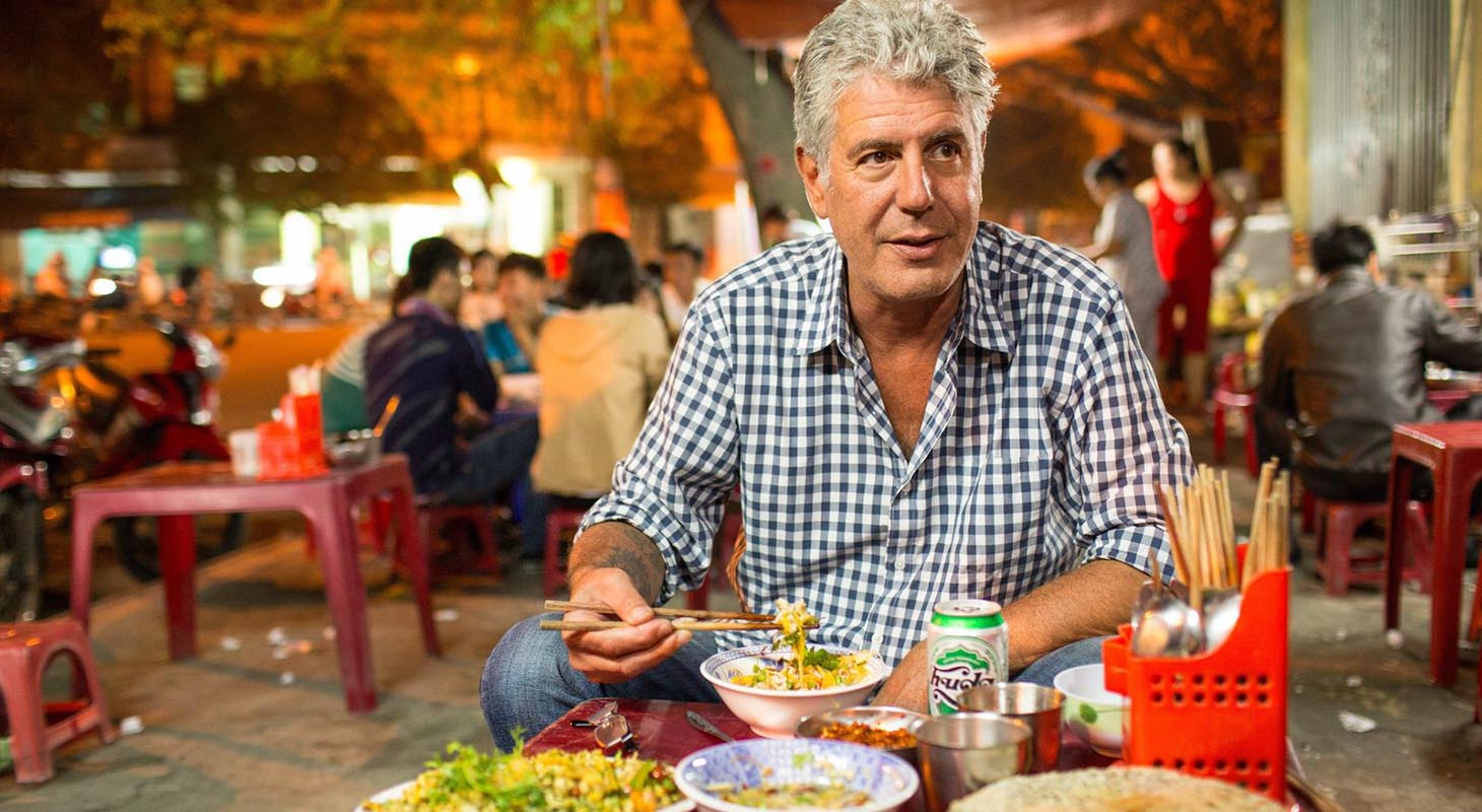 Anthony Bourdain with vietnamese cuisine