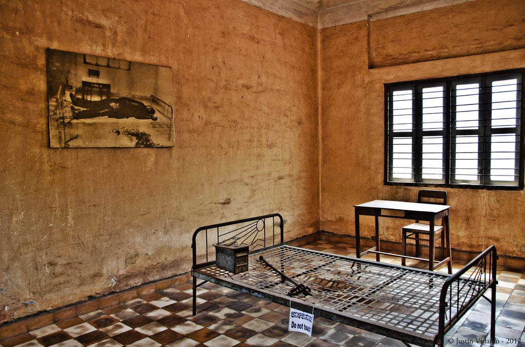A classroom with tools of torture