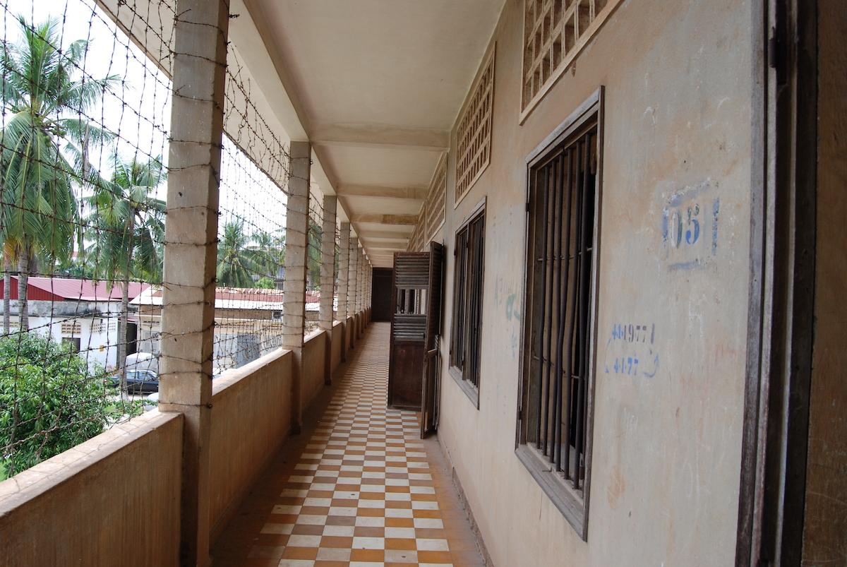 the school corridor