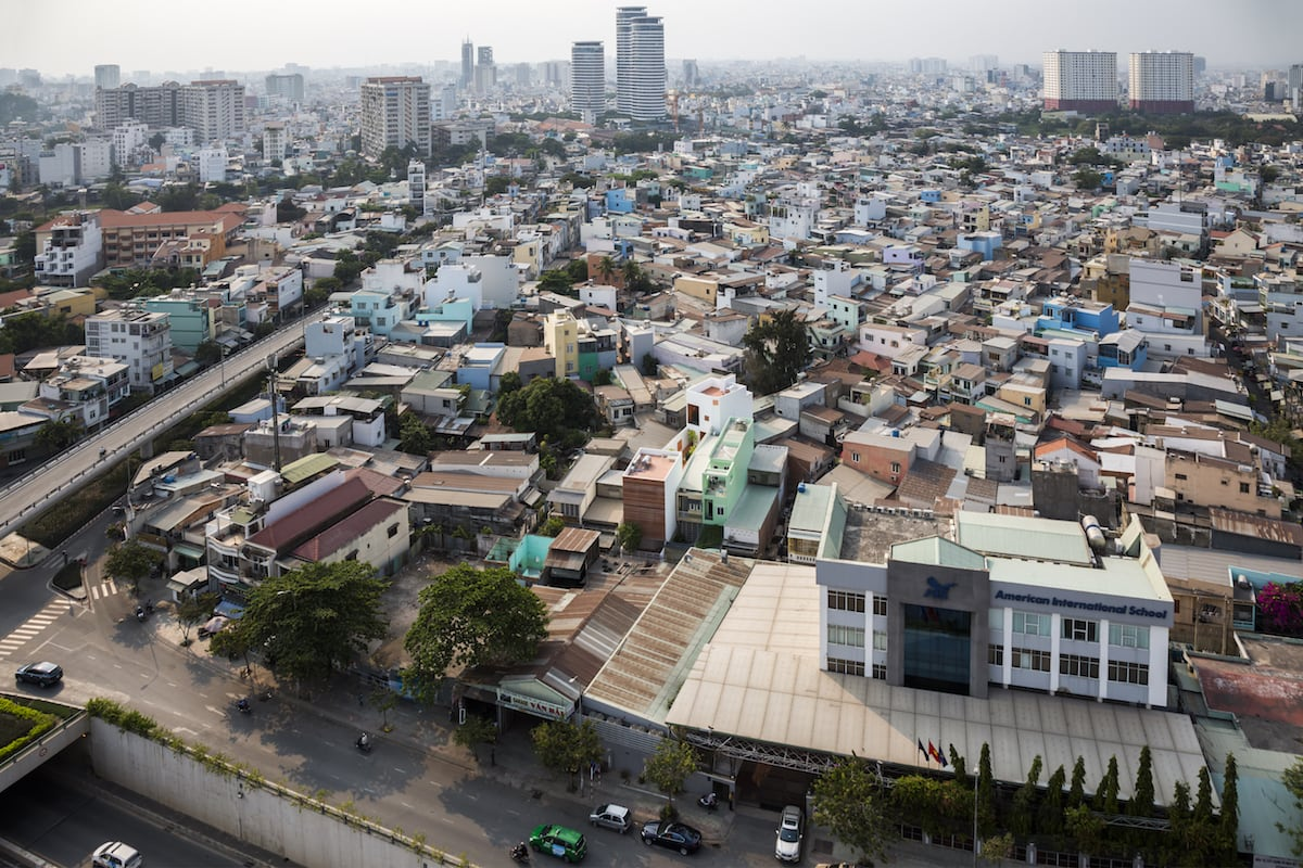 Tightly-packed buildings in HCMC // Image courtesy of Hiroyuki Oki