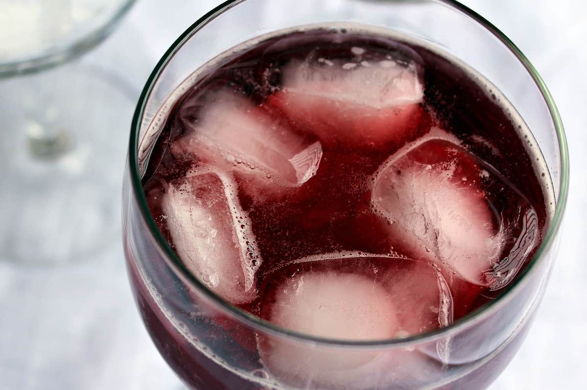 Ice in Red Wine