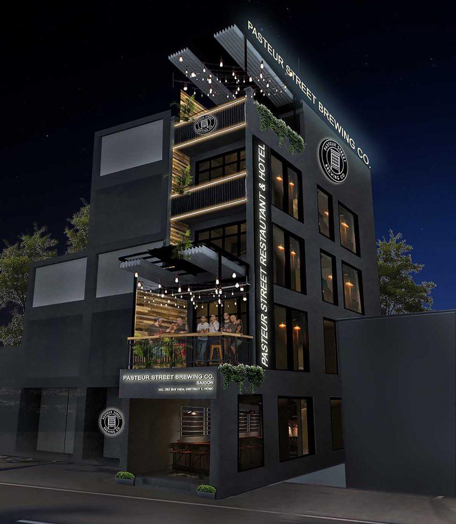 Pasteur Street Taproom Hotel rendering