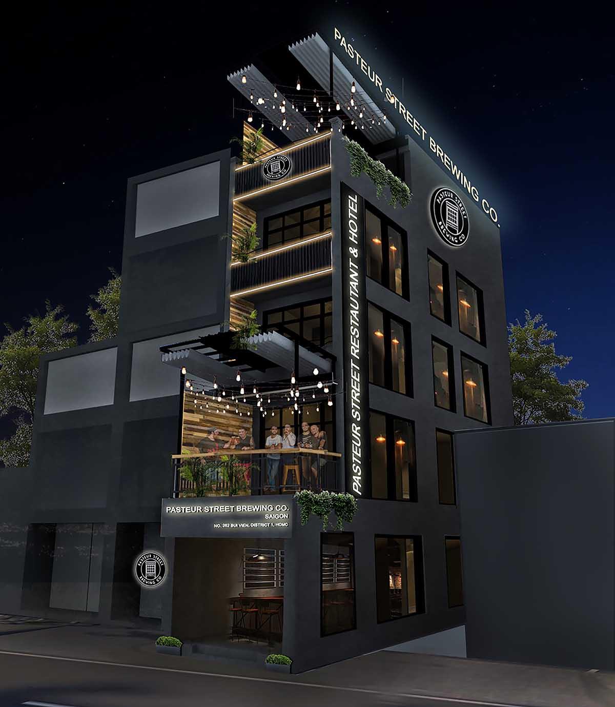 Pasteur Street Hotel Taproom rendering