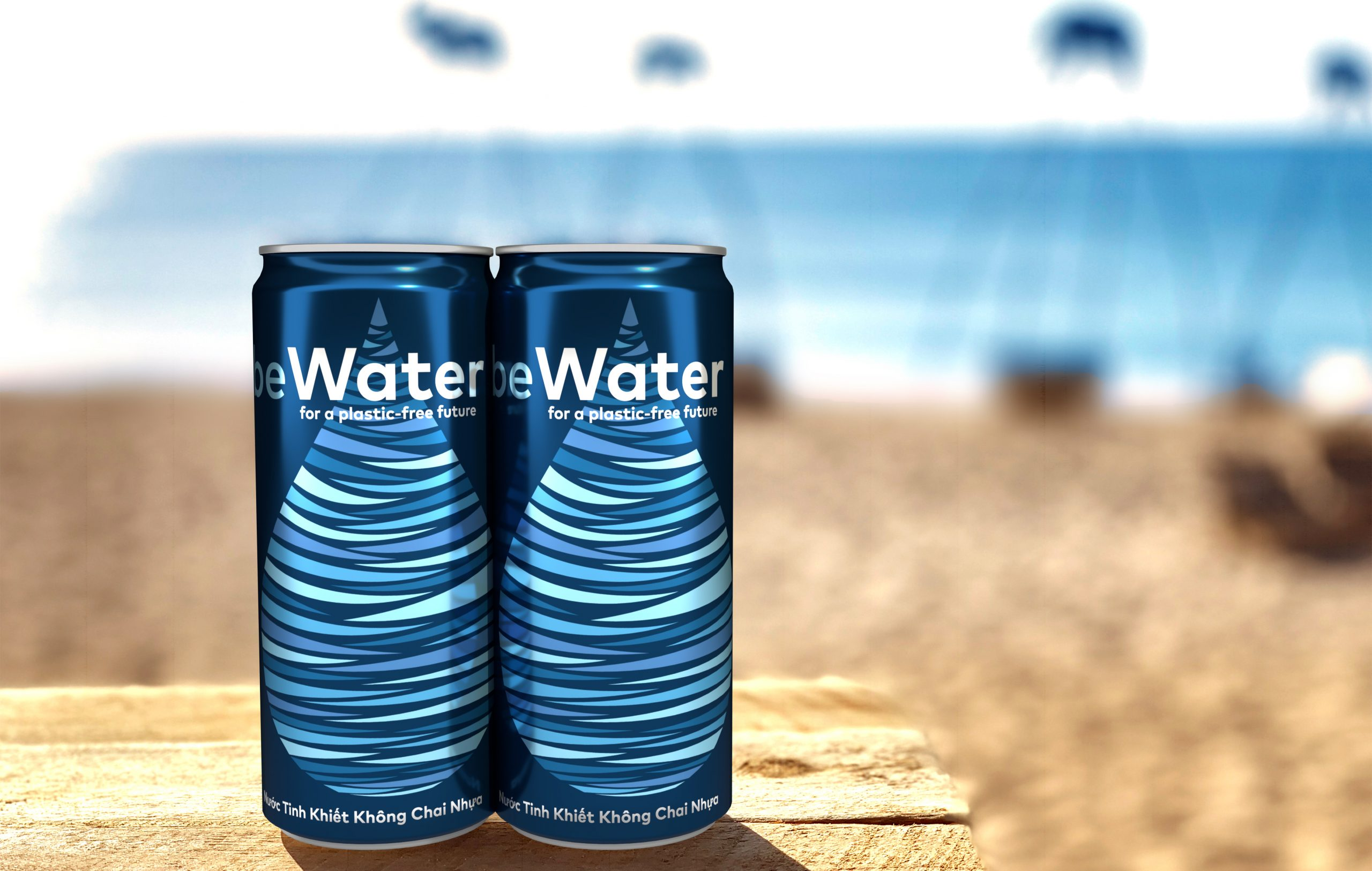 """""""Vietnam-based environmentally-friendly canned water brand,"""