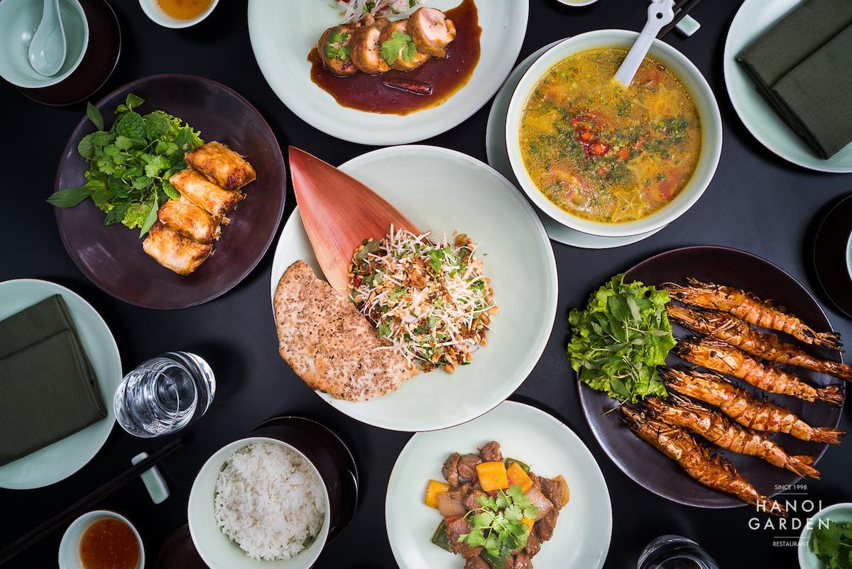 Món ăn tại Hanoi Garden