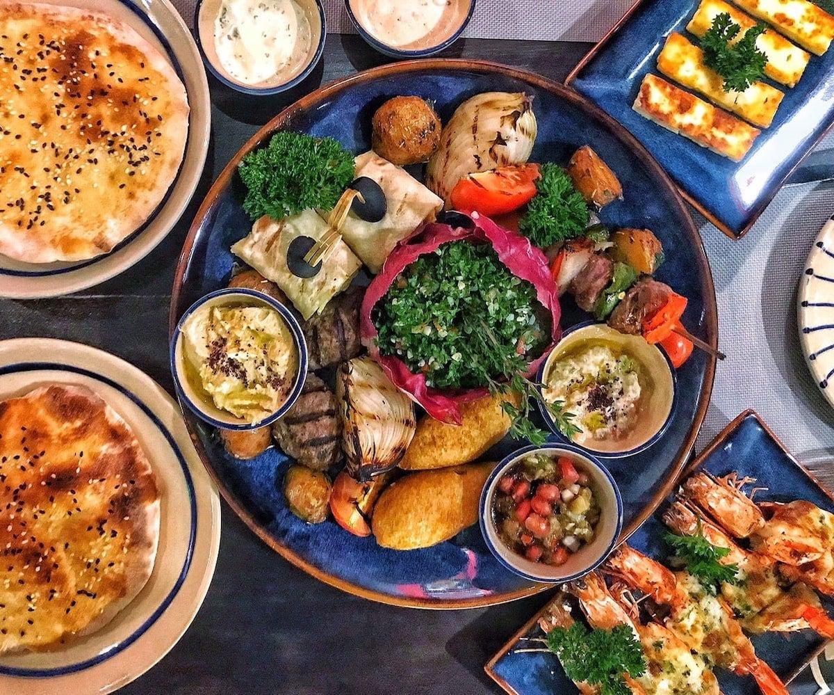 Middle Eastern food at Mezze Saigon