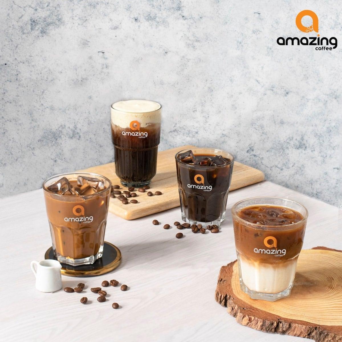 Iced coffee at Amazing Coffee
