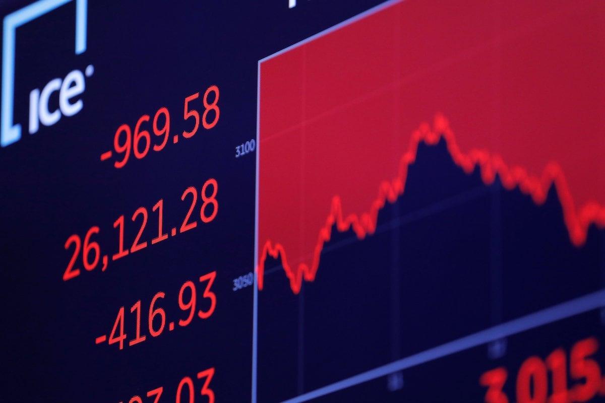 Các chỉ số chứng khoán phố Wall giảm điểm. Nguồn ảnh: Reuters.