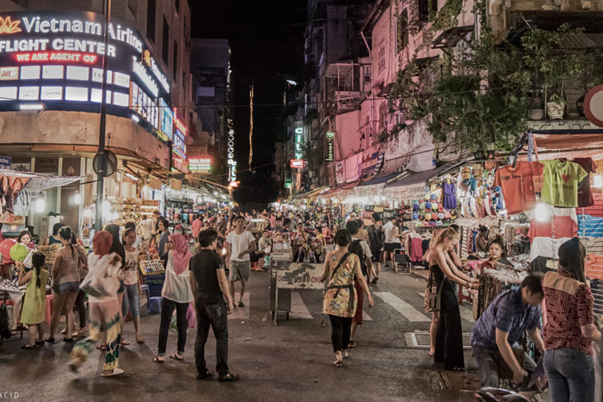 Ben Thanh Market by Night